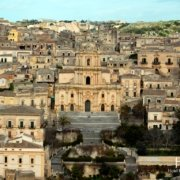 Modica - panorama cathedral