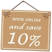 book online and save 10