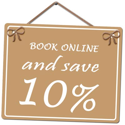 Book Online and Save 10%!